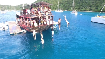 Willy T's Floating Bar in the British Virgin Islands